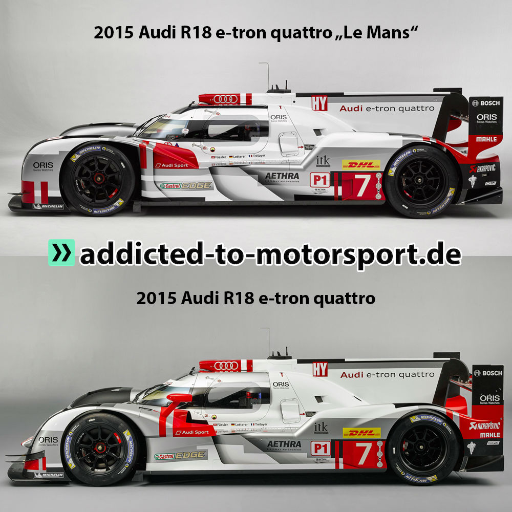 Audi R18 e-tron quattro 2015 (Fotos: Audi, Montage: addicted to motorsport)