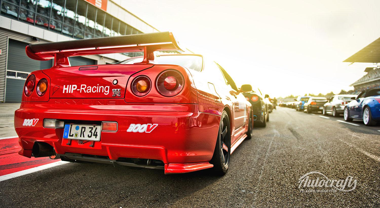 Nissan R34 GTR beim Reisbrennen auf dem Lausitzring (Foto: Flickr/Autocrafts)