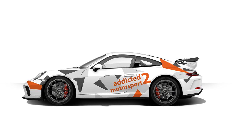 Der Porsche 991.2 GT3 im addicted to motorsport Look