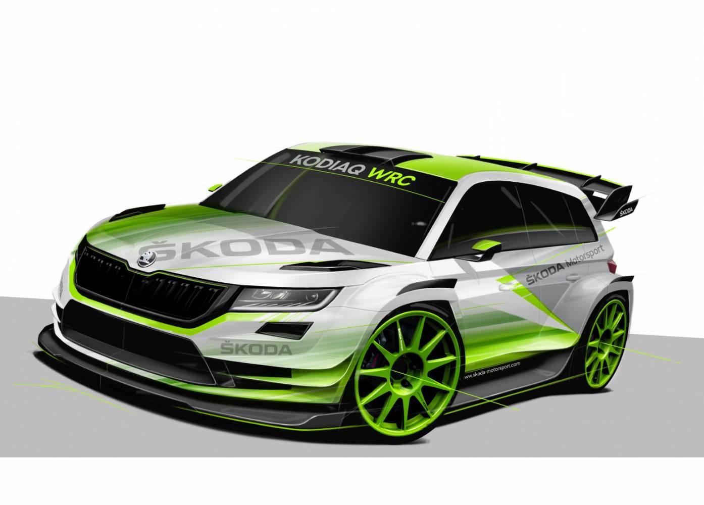 skoda kodiaq wrc comeback 2018 addicted to motorsport. Black Bedroom Furniture Sets. Home Design Ideas