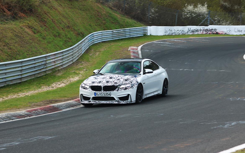 BMW M4 CS bei Tests auf der Nordschleife (Foto: nurburgringlivepics/psringfotos)
