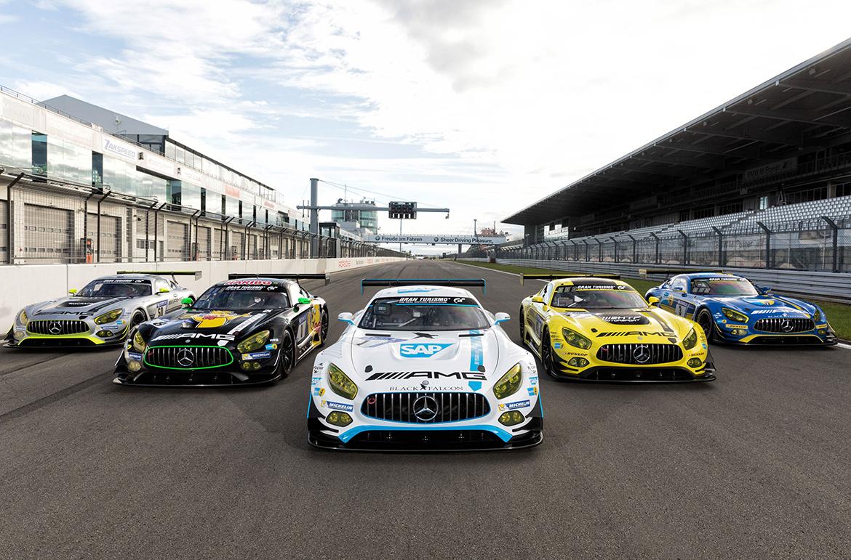7 Mercedes AMG GT3 für das 24h-Rennen 2017 (Foto: Mercedes)