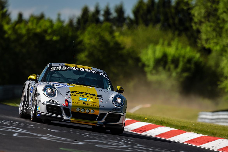 Sieger der V6: V6: Black Falcon Team TMD Friction: Al Faisal/Bolz/Leib/Schoeller, Porsche 911 Carrera (Foto: Porsche)