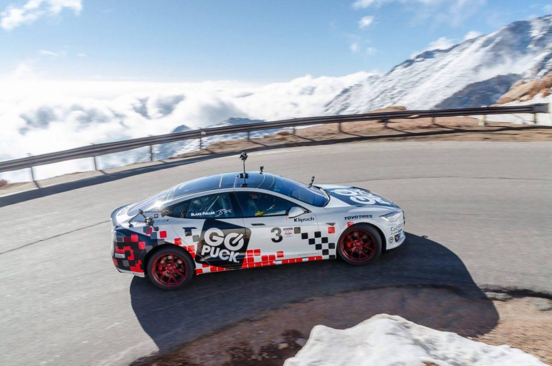 Go Puck Tesla 90D beim Pikes Peak Hillclimb 2016 (Foto: facebook/gopuck)