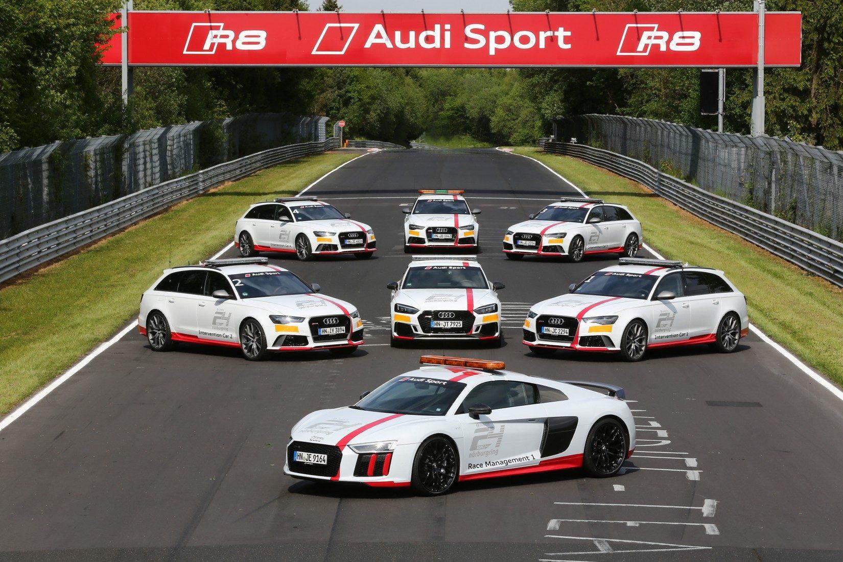 Audi Sport stellte auch 2017 die Intervention Cars (Foto: Burkhard Kasan)
