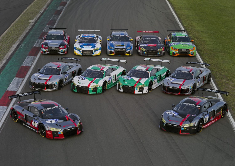 Audis Armada für das 24h-Rennen 2017 (Foto: Ferdi Kräling Motorsport-Bild GmbH)