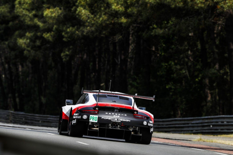 Porsche 911 RSR beim Le Mans Test 2017 (Foto: Porsche)