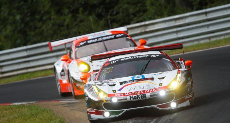 Georg Weiss, Oliver Kainz, Jochen Krumbach (Ferrari 488 GT3) (Foto: Jan Brucke/VLN)