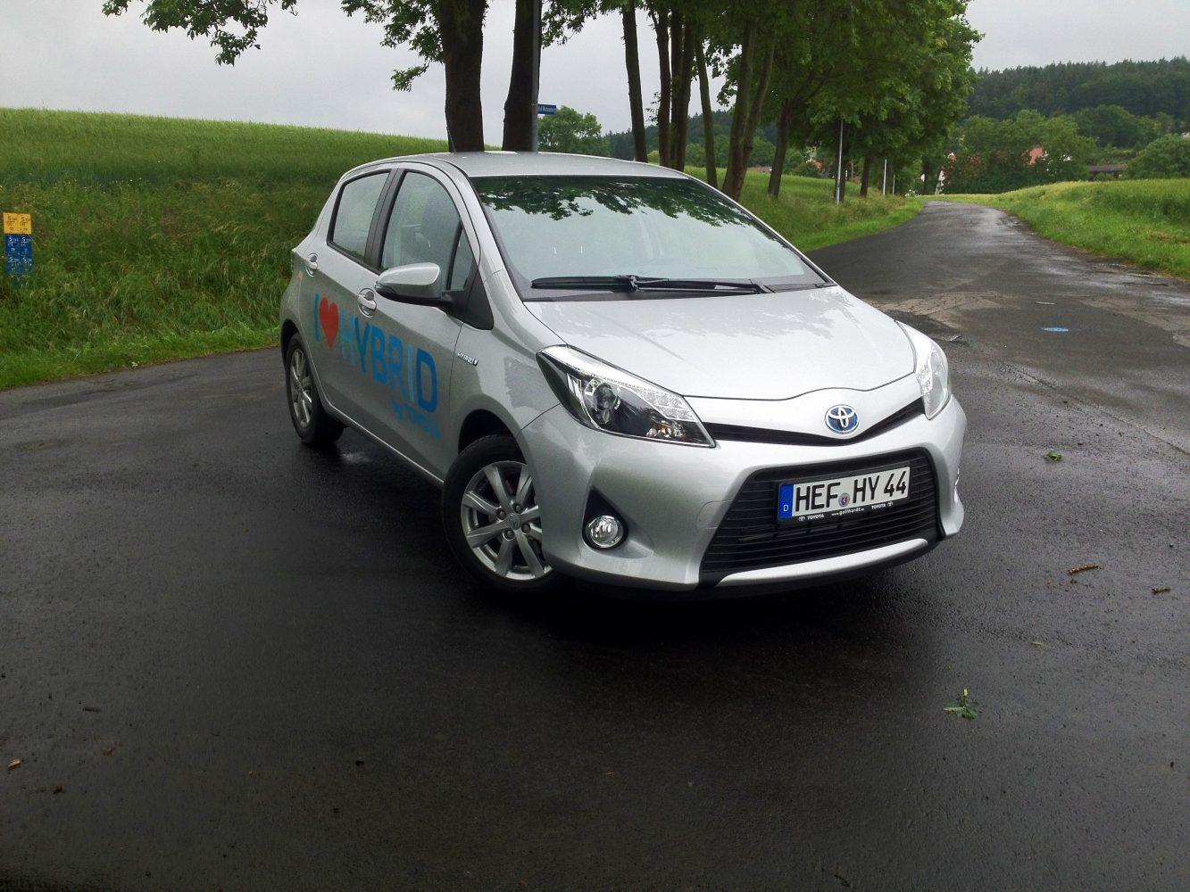 Probefahrt mit dem Toyota Yaris Hybrid