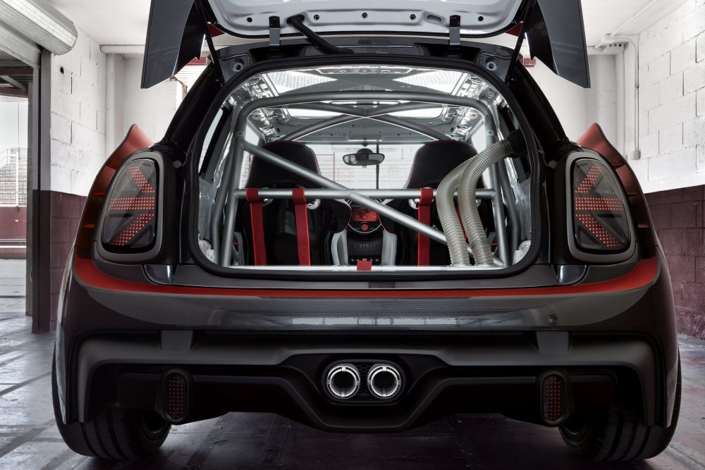 mini john cooper works gp concept puristischer racer f r. Black Bedroom Furniture Sets. Home Design Ideas