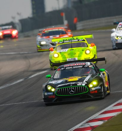 Kamen als Zweite ins Ziel: Lance David Arnold, Mario Farnbacher, Daniel Juncadella (Mercedes-AMG GT3) (Foto: Jan Brucke/VLN)