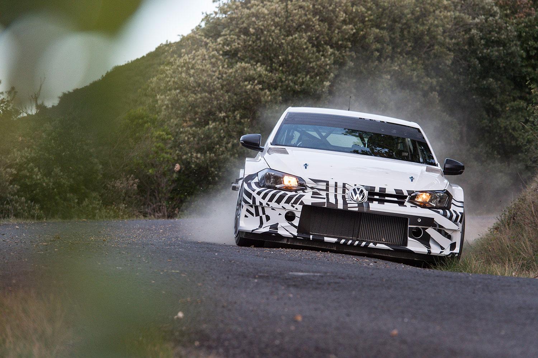 2018 VW Polo GTI R5 bei Tests in Frankreich (Foto: Volkswagen)