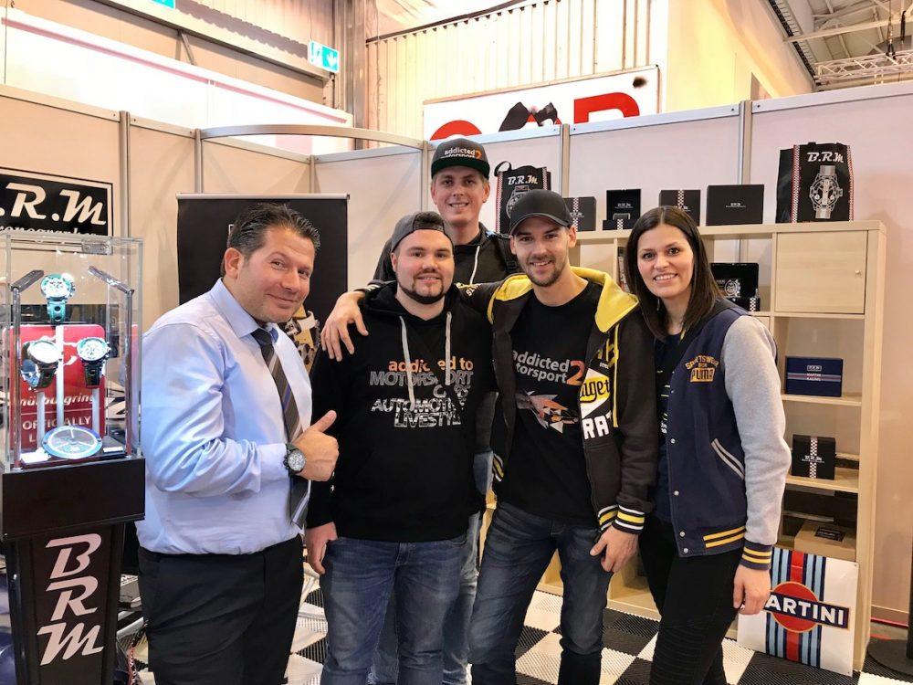addicted to motorsport am Stand von unserem Freund Velten Zein (BRM Chronographes Germany) - Essen Motor Show 2017