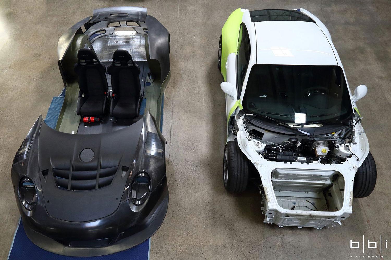 Porsche 991 und 991 GT3 R Bodykit (Facebook/BBi Autosport)Porsche 991 und 991 GT3 R Bodykit (Facebook/BBi Autosport)