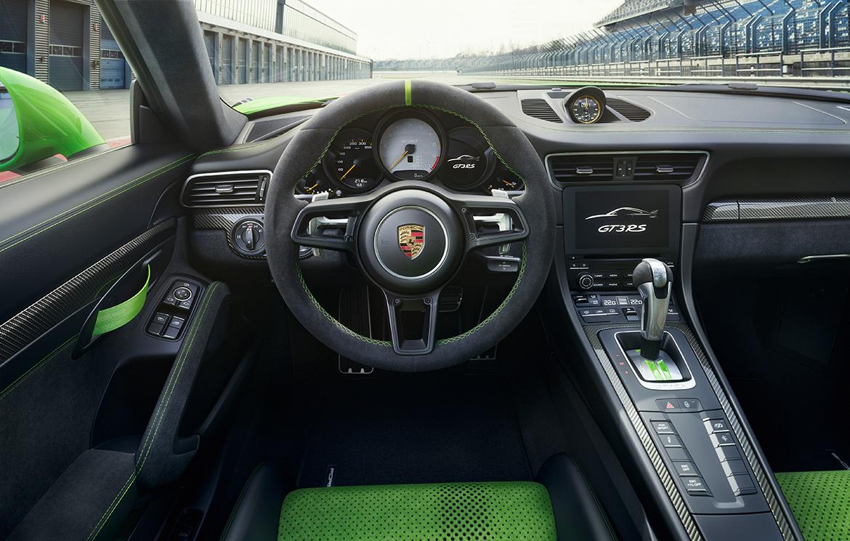 Innenraum des Porsche 991.2 GT3 RS (Foto: Porsche)