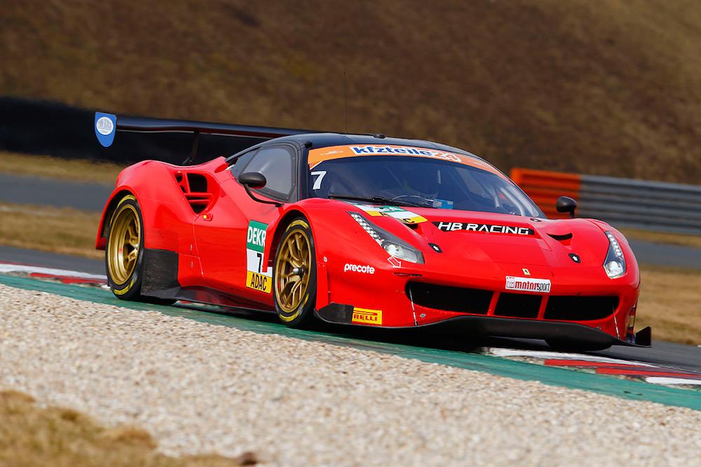 HB Racing Ferrari 488 GT3 - ADAC GT Masters Test 2018 (Foto: ADAC Motorsport)