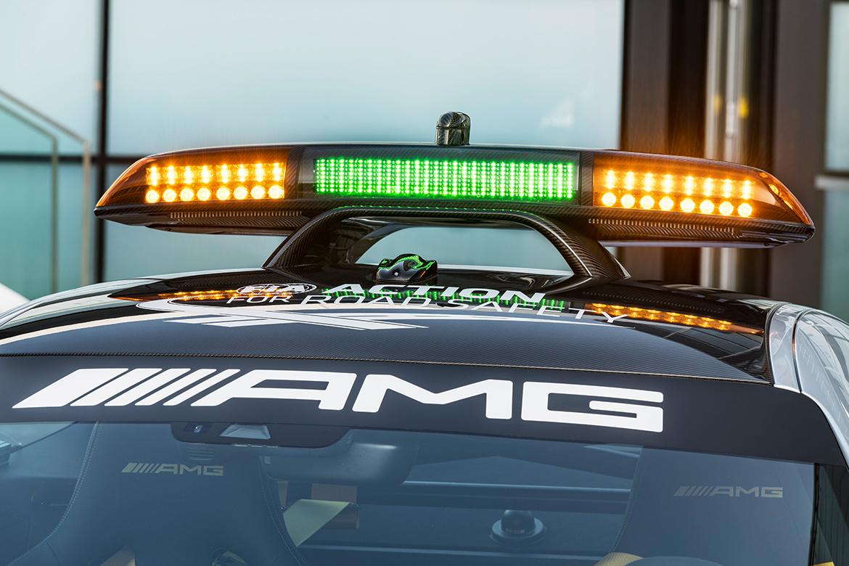 Leuchbalken des Mercedes AMG GT R Safetycar (Foto: Mercedes)