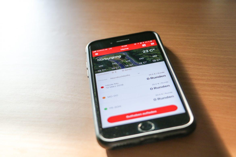 Green Hell Driving App als Helfer für den Carfreitag am Nürburgring