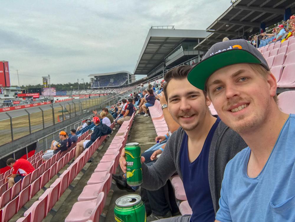Abkühlung mit einem kühlen Radler - Formula 1 Grand Prix Deutschland 2018