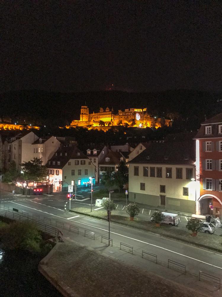 Abendlicher Sightseeing-Trip durch Heidelberg.