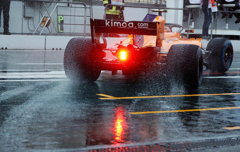 McLaren mit Regenreifen in FP3 - Formula 1 Grand Prix Deutschland 2018 (Foto: McLaren)