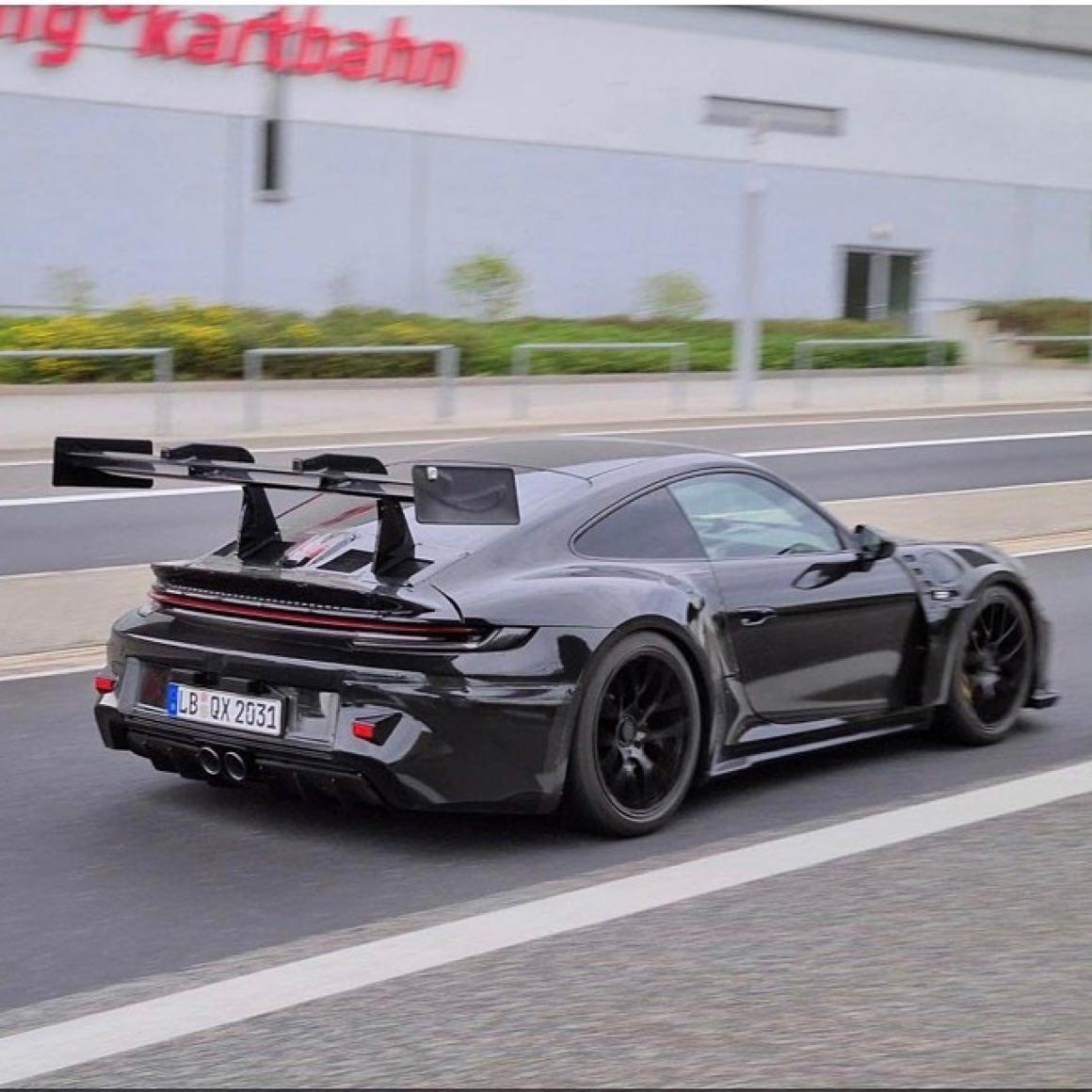 Porsche 992 Gt3 Rs Erste Erlkonig Sichtung Addicted To Motorsport